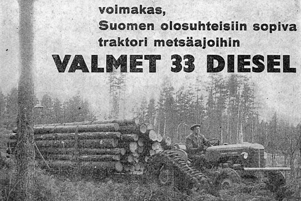Kun traktori tunkeutui metsätöihin