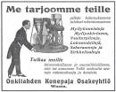 Voimakonetta hankkimassa vuonna 1922
