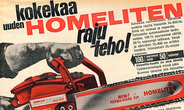 Moottorisahat 60-luvulla – Moottorisahojen laihdutuskuuri tuotti tuloksia