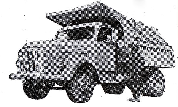 Varustelua 50-luvulla – Kippejä, koppeja ja kärryjä kuormureihin